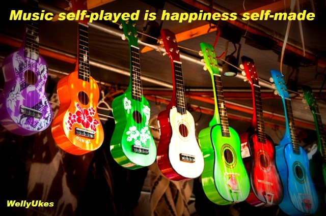 Music self-played is happiness self-made WellyUkes